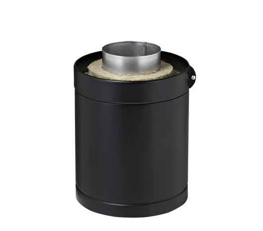 Parra flue module 300 mm, insulated, black  image